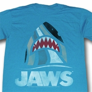 Jaws Shirt Shark Adult Turquoise Tee T-Shirt
