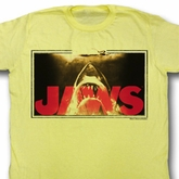 Jaws Shirt Swim Lines Adult Yellow Tee T-Shirt