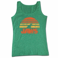 Jaws Shirt Tank Top Sunset Green Tanktop