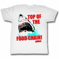 Jaws Shirt Top Of The Food Chain White T-Shirt