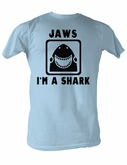 Jaws T-shirt I Am A Shark Adult Light Blue Tee Shirt