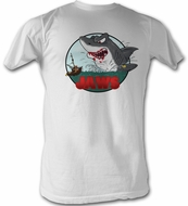 Jaws T-shirt Movie GRRR Adult White Tee Shirt