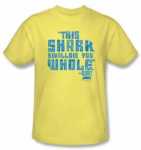 Jaws T-shirt Movie Swallow You Whole Adult Banana Tee Shirt