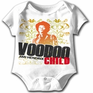 Jimi Hendrix Baby Romper Voodoo Child White Infant Creeper