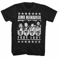 Jimi Hendrix Shirt Foxy Lady Black T-Shirt