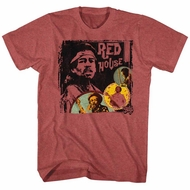 Jimi Hendrix Shirt Red House Red Heather T-Shirt