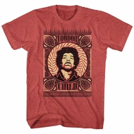 Jimi Hendrix Shirt Voodoo Child Red Heather T-Shirt