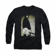 Joan Jett Shirt Pose Long Sleeve Black Tee T-Shirt