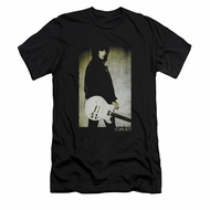 Joan Jett Shirt Slim Fit Pose Black T-Shirt