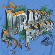 Jurassic Park Greetings From JP Shirts