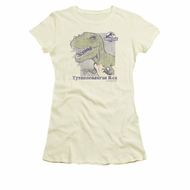 Jurassic Park Shirt Juniors Retro Rex Cream Tee T-Shirt