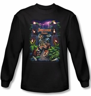 Jurassic Park T-shirt Welcome To The Park Adult Black Long Sleeve