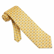 Justice Bites Yellow Silk Tie Necktie - Men's Animal Print Neck Tie