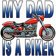 Kids Biker T-shirt - My Dad is a Biker Youth Tee