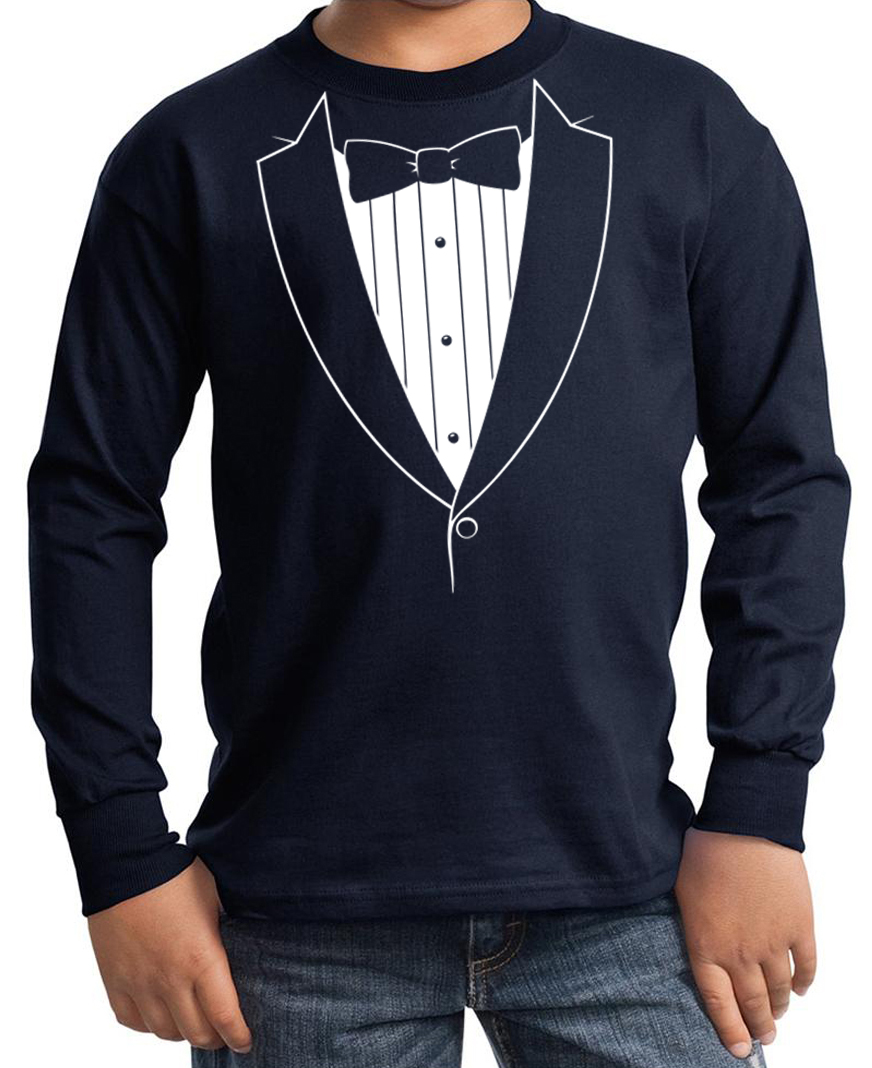 funny t-shirt printed with a bow tie on a suit coat, sport jacket, tuxedo jacket complete with a skeleton rib cage featuring spiders, worms, a mouse and a skeleton hand in the pocket.