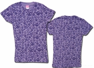 Kids Tie Dye T-shirt - Sundog Girls Purple Peace Tee