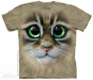 Kitten Eyes Shirt Tie Dye Adult T-Shirt Tee