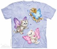 Kitten Fairies Shirt Tie Dye Adult T-Shirt Tee