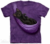 Kitten Hammock Shirt Tie Dye Adult T-Shirt Tee