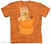 Kitten In A Bucket Shirt Tie Dye Adult T-Shirt Tee