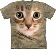 Kitty Shirt - Adorable Kitten Face Tie Dye T-shirt