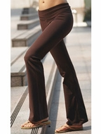 Ladies Foldover Yoga Pants - Made in the USA