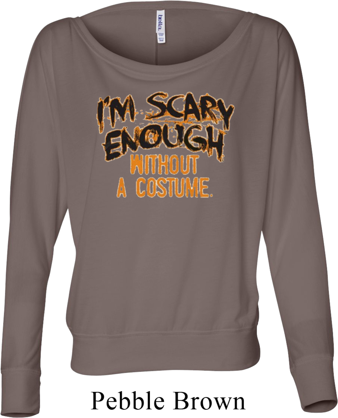 Ladies Halloween Shirt Scary Enough Off Shoulder Tee T
