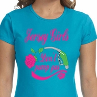 Ladies Shirt Jersey Girls Don't Pump Gas Crewneck Tee T-Shirt