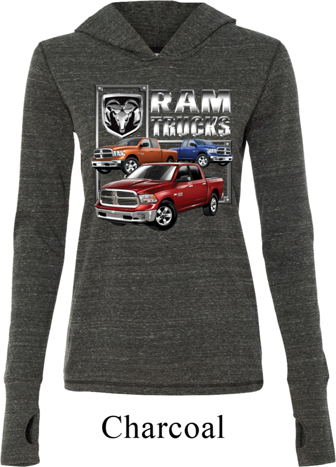 Dodge Ram Hoodie >> Ladies Shirt Ram Trucks Tri Blend Hoodie Tee - Dodge Ram Trucks Ladies Dodge Shirts