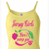 Ladies Tanktop Jersey Girls Don't Pump Gas Spaghetti Strap Tank Top