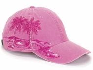 Ladies Tropical Palm Tree Vacation Baseball Hat Cap