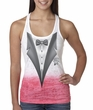 Ladies Tuxedo Shirt - Ombre Burnout Tux Tanktop