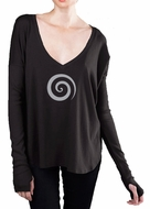Ladies Vortex T-shirt with Thumb-holes - Long Sleeves