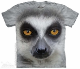 Lemur Portrait Shirt Tie Dye Adult T-Shirt Tee