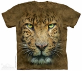 Leopard Face Shirt Tie Dye Adult T-Shirt Tee