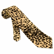 Leopard Silk Tie Necktie - Men's Animal Print Neck Tie