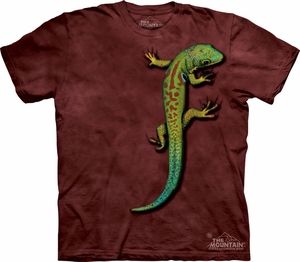 Lizard Shirt Tie Dye T-shirt Bright Eyes Adult Tee