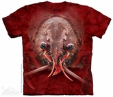 Lobster Face Shirt Tie Dye Adult T-Shirt Tee