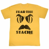 Magnum PI Shirt Fear The Stache Gold T-Shirt