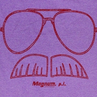 Magnum PI Shirt Glasses Adult Purple Heather Tee T-Shirt