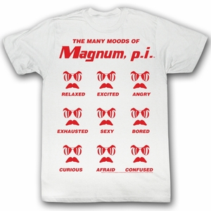 Magnum PI T-shirt Oh Yeah Classic Adult White Tee Shirt
