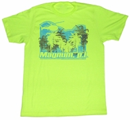 Magnum PI T-shirt Trees Classic Adult Neon Green Tee Shirt