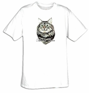Maine Coon T-shirt - Pet Cat Adult Tee Shirt