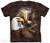 Majestic Eagle Shirt Tie Dye Adult T-Shirt Tee
