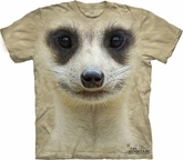 Meerkat Shirt Tie Dye Face T-shirt Adult Tee