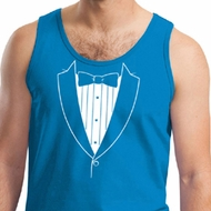 Mens Tanktop Basic White Tuxedo Tank Top