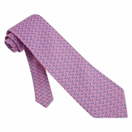Micro Sharks Silk Tie Necktie - Men's Animal Print Pink Neck Tie