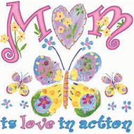 Mom Is Love in Action Mother Tee shirt
