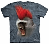 Monkey Kids Shirt Tie Dye Ape Mohawk Punky T-shirt Tee Youth