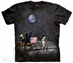 Moon Landing Shirt Tie Dye Adult T-Shirt Tee